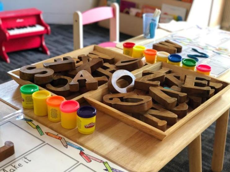 ambiente preparado para educación Montessori